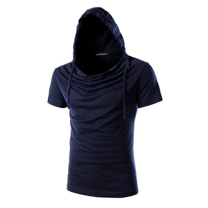 Men's Hooded Short Sleeve Cotton Tee