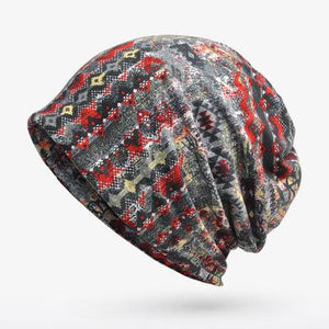 Geometric Patterned Beanie