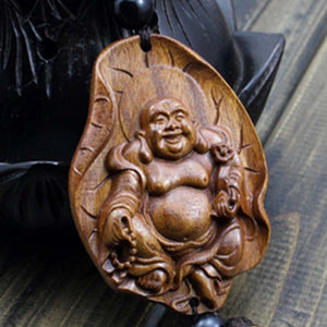 Wood Carving Amulet Mala