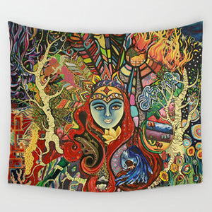 Psychedelic Tapestry Wall Hangings