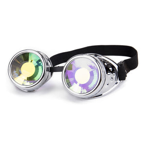 Kaleidoscope Colorful Diffracted Lens Steampunk Goggles
