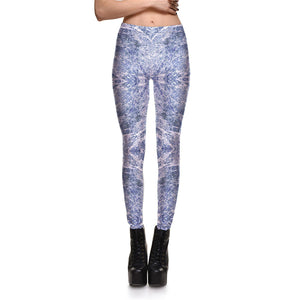 Printed Sequin Leggings