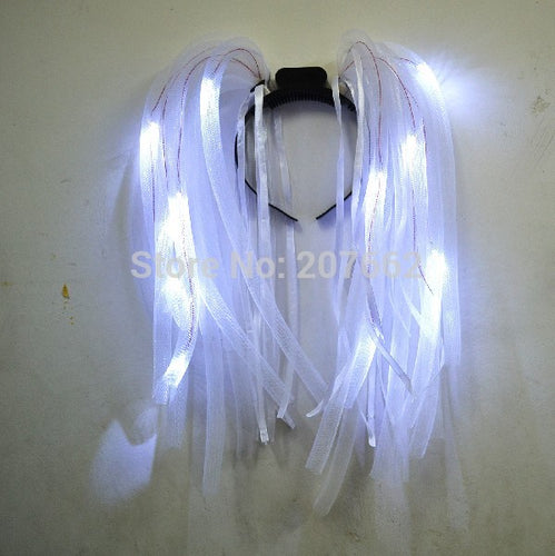 LED Light Up Flashing Rave Noodle Headband