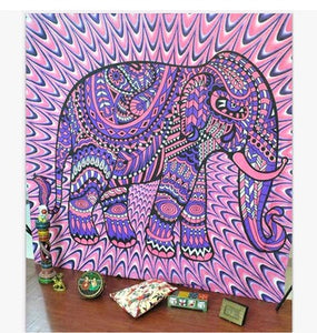 Polyester/Cotton Elephant Tapestries