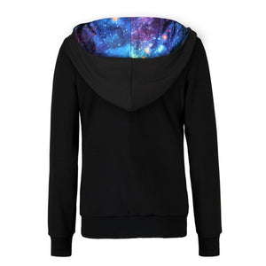 Women's 3D Galaxy Printed Hoodies