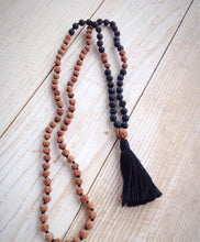 108 Bead Lava Rock and Rudraksha Mala