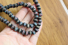 Vintage Tibetan 8mm*6mm 108 Black Yak Bone Prayer Beads Mala