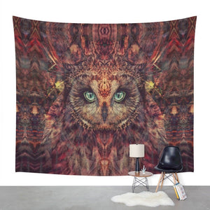 Mystic Owl Wall Tapestry Large