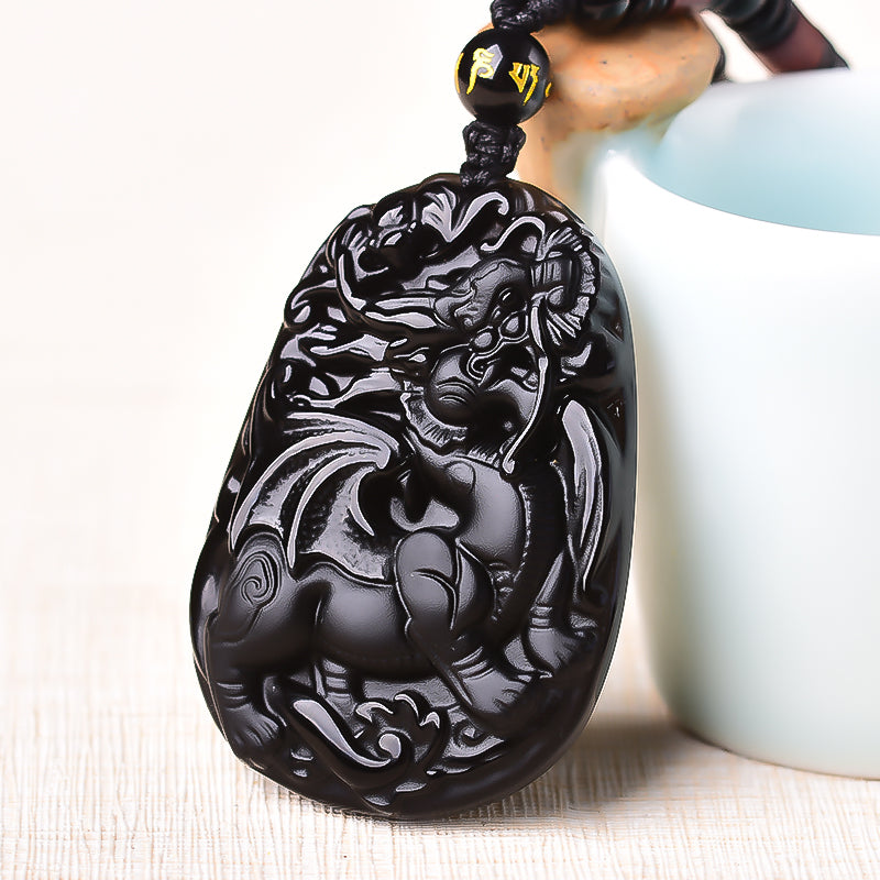 Natural Black Obsidian Pendant