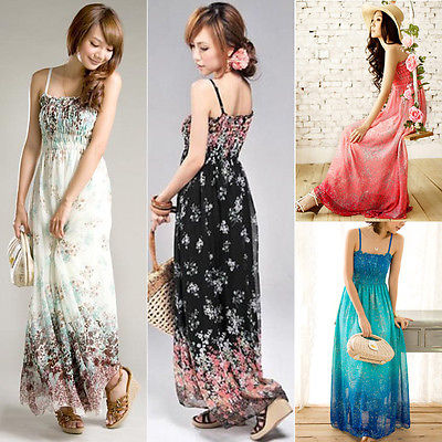Pleated Long Sundress