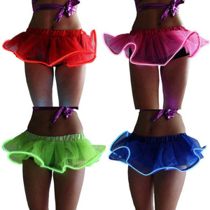 LED Light Up EL Wire Tutu