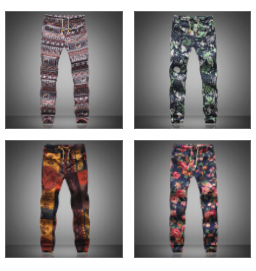 Printed Pattern Linen Joggers