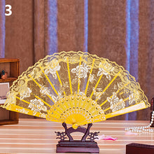 Retro Women Flower Floral Lace Folding Hand Fan