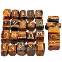 Tiger's Eye Rune Stone Set