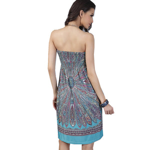 Strapless Bohemian Dress