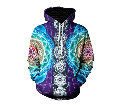 Psychedelic Chakra Hoodie & Shirts