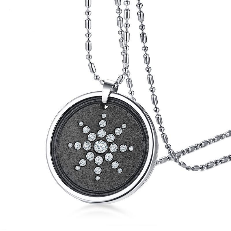 Scalar Quantum Energy Ion Pendant With Rhinestones Stainless Steel 25