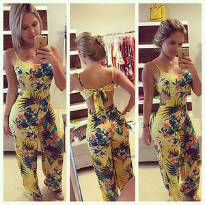Ladies Yellow Flower Romper