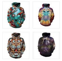 Power Animals 3D printed Hoodie series