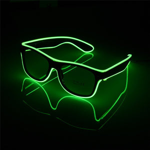 Flashing EL Wire Led Glasses (blue, green, and red variants)