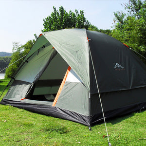 Three Person 200x200x130cm Double Layer Weather Resistant Outdoor Camping Tent