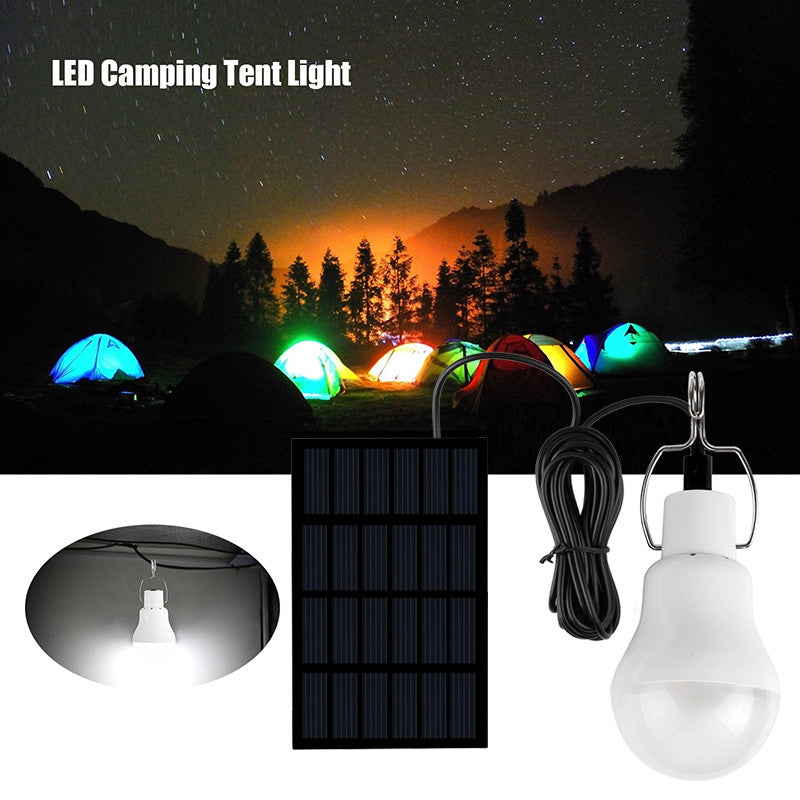 Rechargeable Solar LED Camping Tent Light