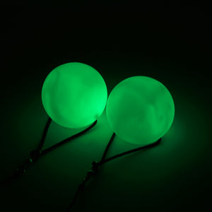 Glowing Green LED POI balls