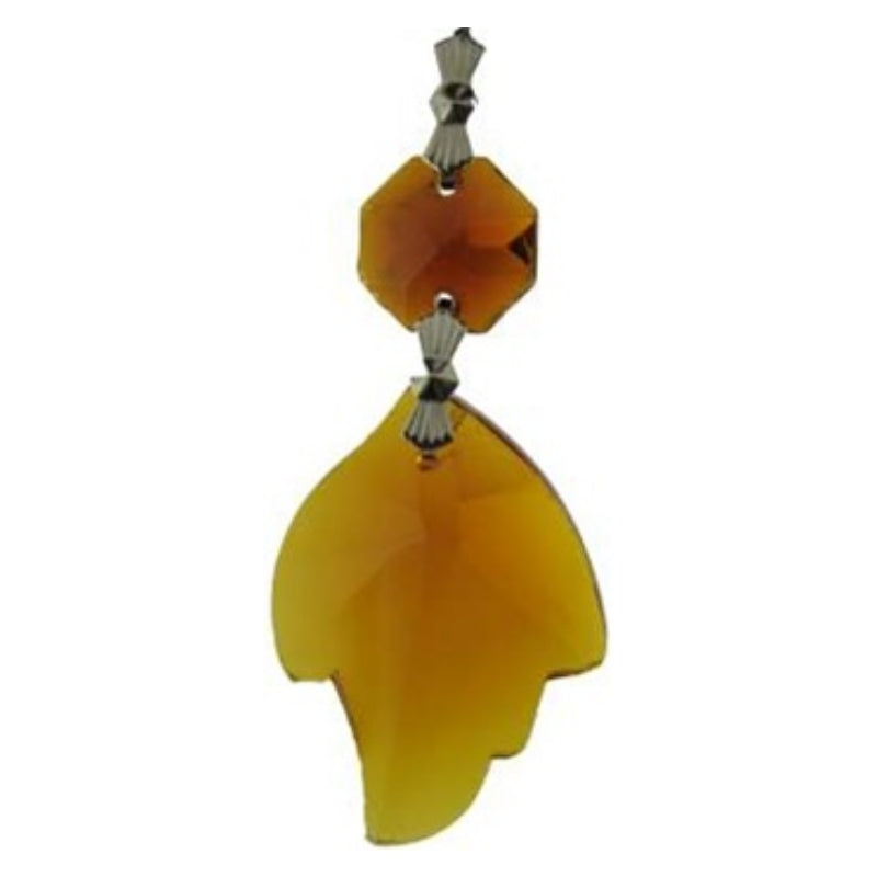 amber colored crystal leafs for chandeliers