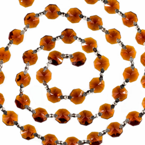 Amber strands of crystal prisms