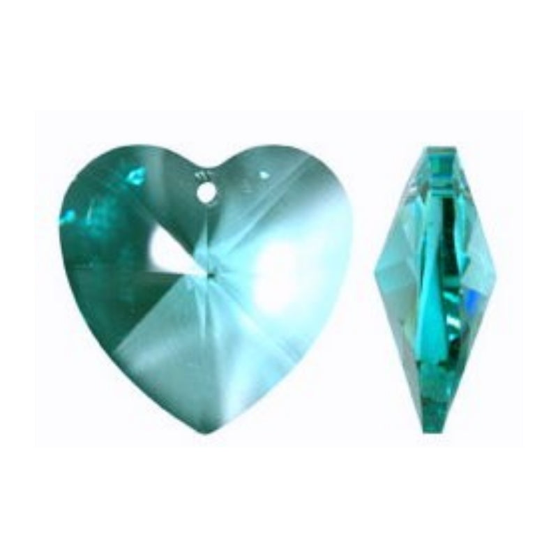 Aqua Crystal Heart Prism for Chandeleirs