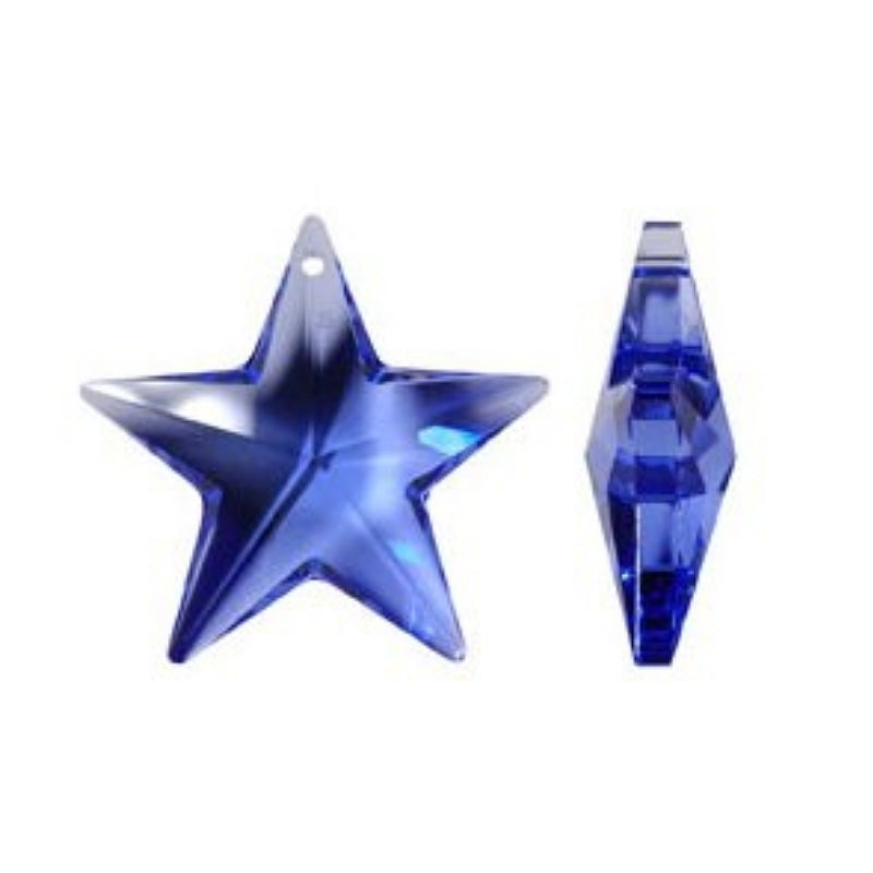 Blue Star Crystal Prism for Chandelier Replacement Crystals