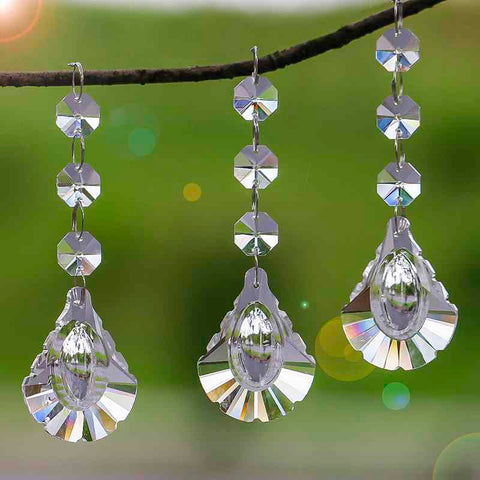 replacement crystal beads for chandelier