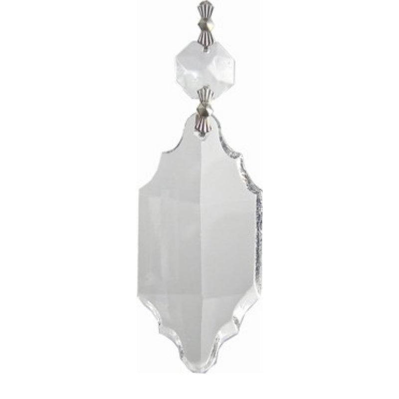 Clear Colonial Prism for Chandelier Replacement Crystals