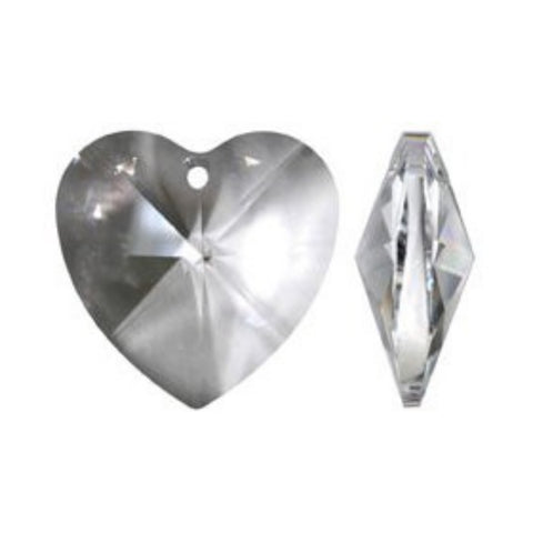 clear crystal heart prisms