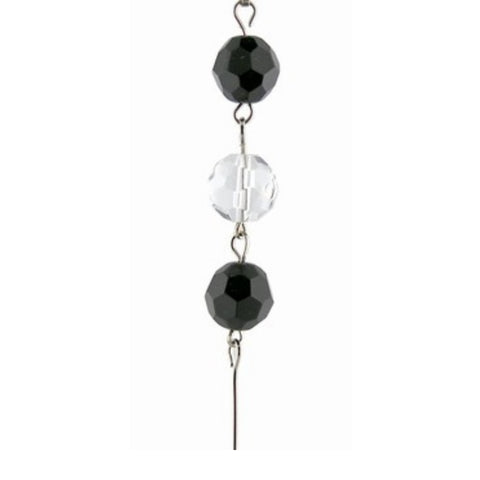 Black & Clear Crystal Mini Chandelier Chains