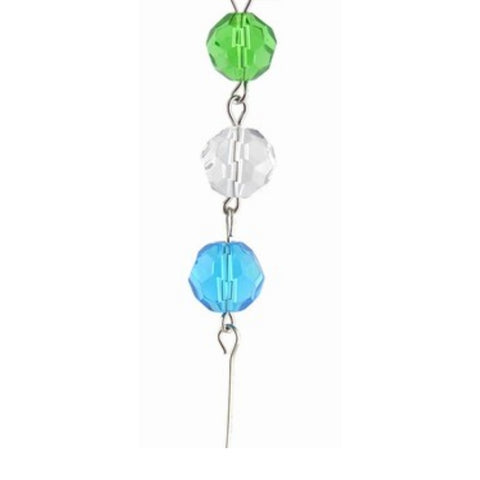 Green, Clear & Aqua Crystal Mini Chandelier Chains