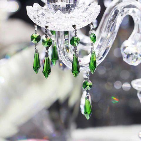 green vintage crystals