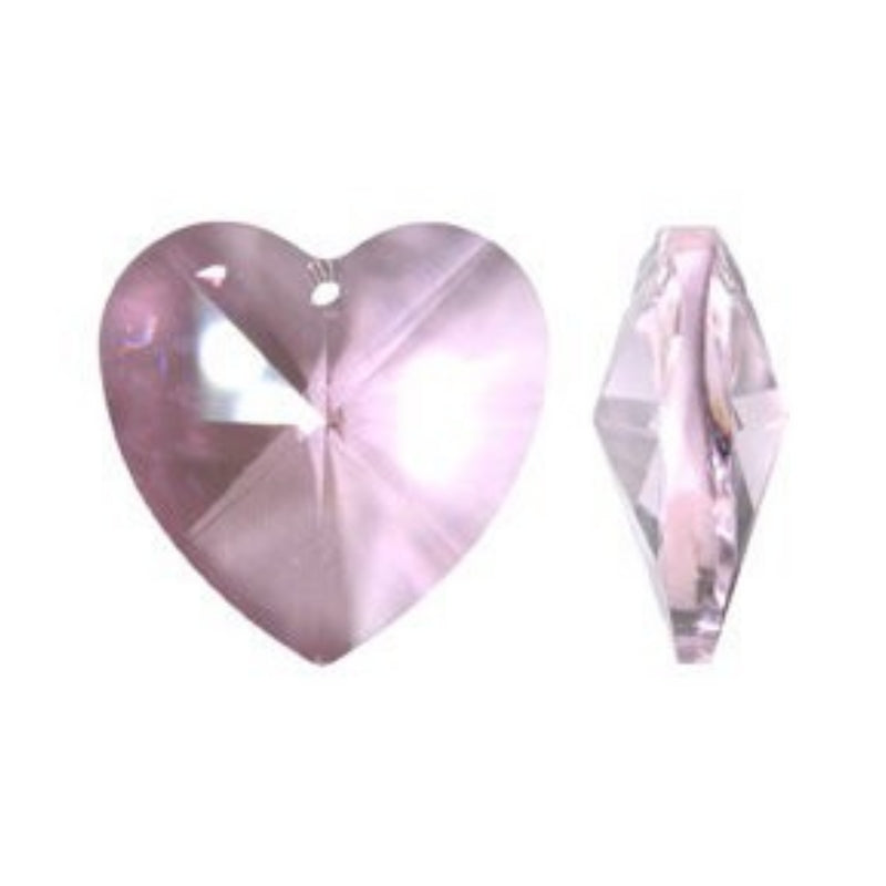Pink Crystal Heart Prism for Chandeliers