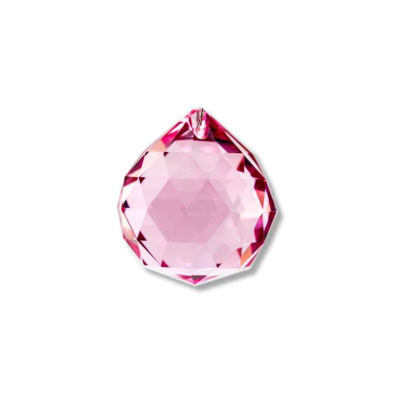 pink faceted crystal ball 20 30 40 50 60 70 80
