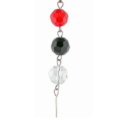 Red, Black & Clear Crystal Mini Chandelier Chains