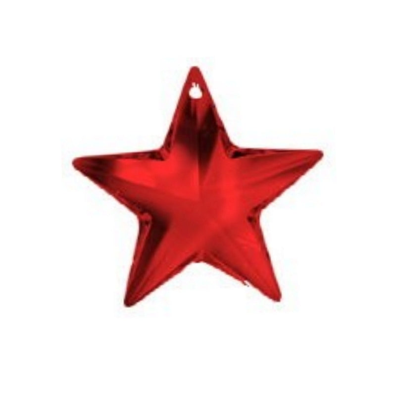 Red Crystal Star Prism for Hanging on Chandeliers