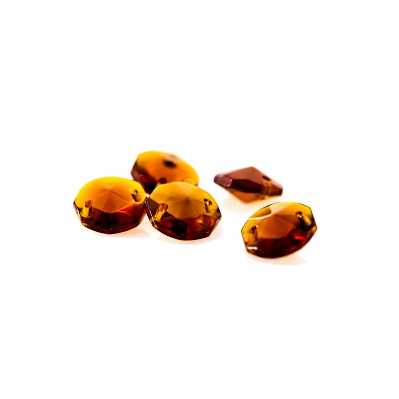 Amber 14mm octagons for chandeliers crystals