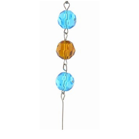 Aqua & Amber Crystal Mini Chandelier Chains