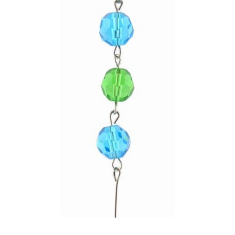 Aqua & Green Crystal Mini Chandelier Chains