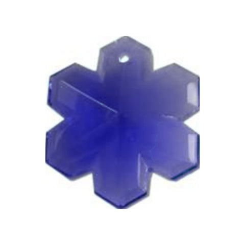 Blue Snowflake Crystal Prism for Chandelier Replacement Crystals