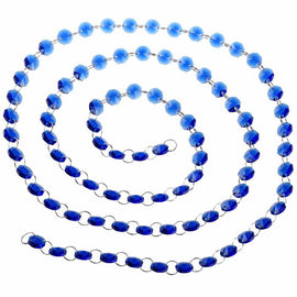 blue strands of crystal beads for chandeliers