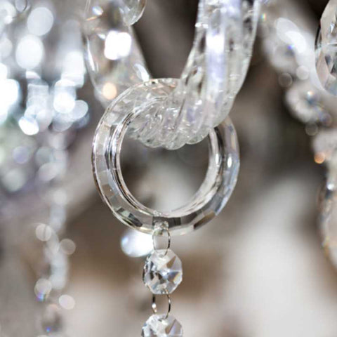 cristalier chandelier bling ring crystal hangers for chandelier arms o-rings clear