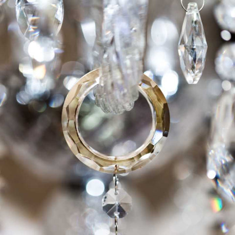 cristalier chandelier bling ring crystal hangers for chandelier arms o-rings golden gold topaz champagne