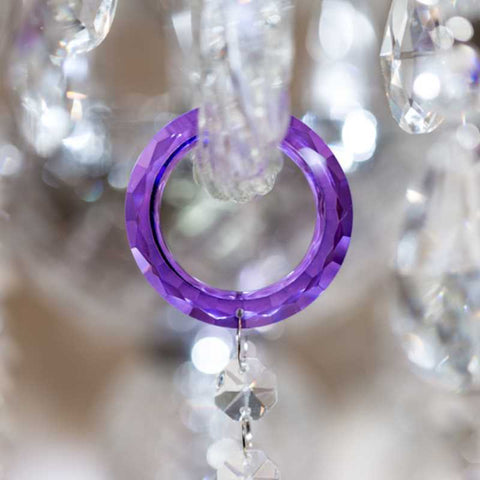 Purple chandelier crystals ultra violet hanging prisms for chandeliers