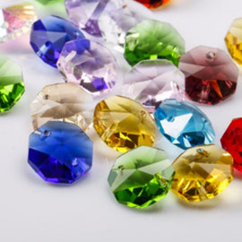 assorted colorful chandelier crystals